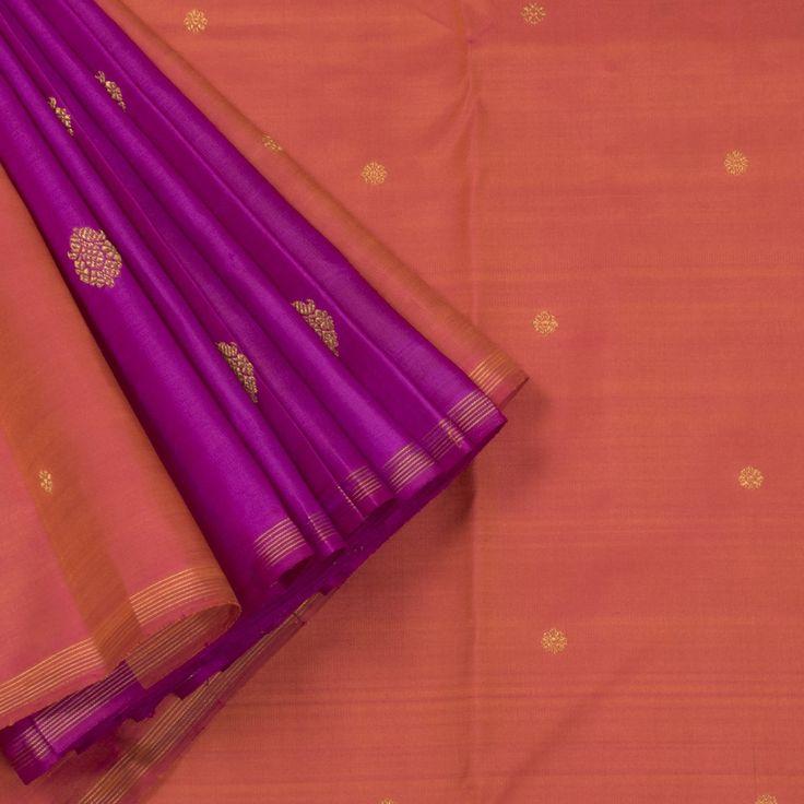 Kanakavalli Handwoven Kanjivaram Silk Sari 1004460 - Sari / Kanjivarams - Parisera