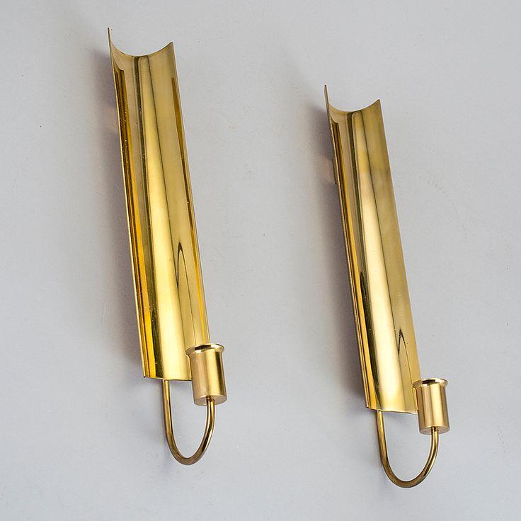 "PIERRE FORSELL, lampetter, 2 st, ""Reflex"", Skultuna, 1900-talets andra hälft."
