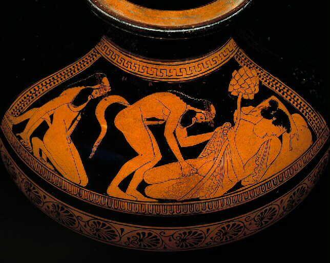 Erotic greek pottery