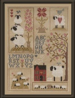 If you want to stitch all 4 parts together, the layout is shown in one of the photos.