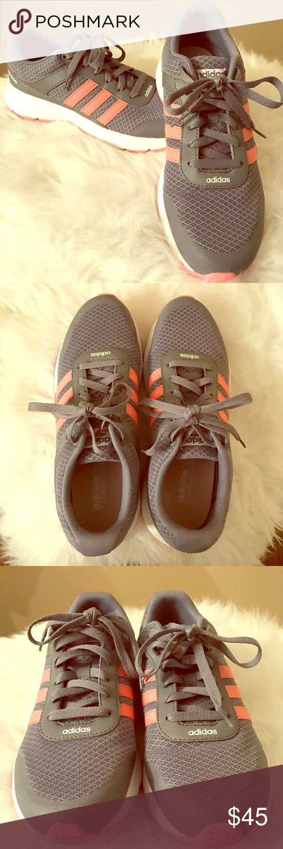 Adidas neo sneakers Adidas neo sneakers pink and gray, size 9 worn once Adidas Shoes Sneakers