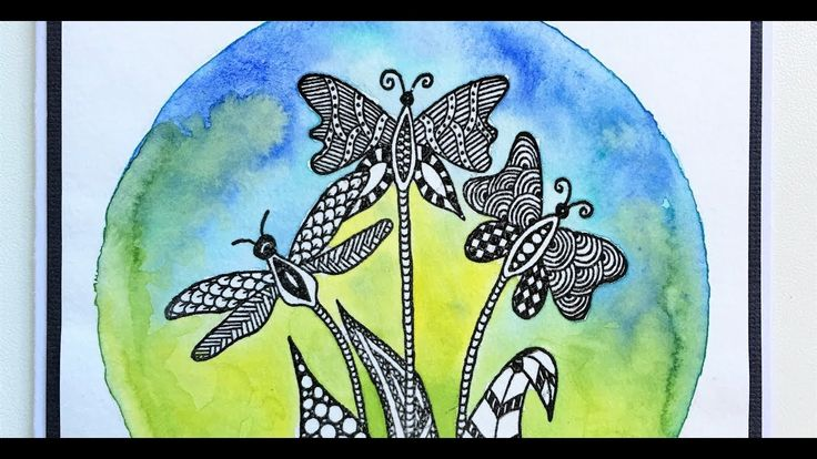 Rubber Dance Fly-Fly-Flowers watercolour card video tutorial