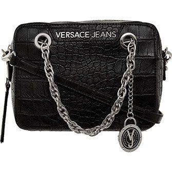 £70 Black Crock Effect Mini Crossbody Bag