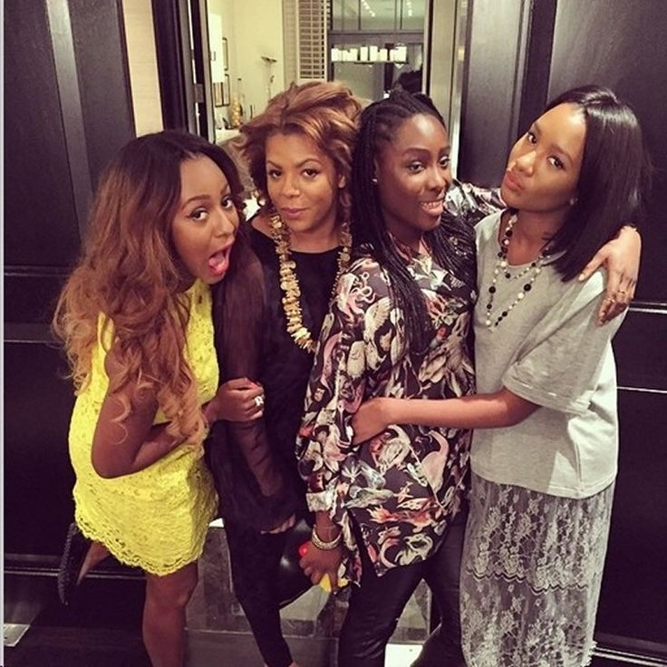 SEE FEMI OTEDOLA'S BEAUTIFUL WIFE AND DAUGHTERS IN NEW PIC – Demtalk.com – The Dsc jockey (DJ Cuppy) s back to her family members in London where she shared this pictures some minutes ago, with Dj Cuppy(1st from the left, Mrs Otedola (Her mum) beside her and her siblings. What a great feeling to belong to the family of an oil magnate billionaire (Femi Otedola). #femiotedolawifeanddaughters