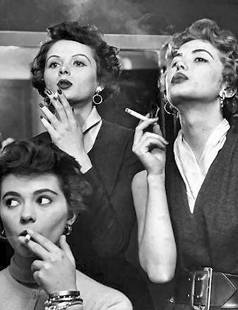 1950's when smoking was cool! I started smoking about 1951, come to think of it....smoked another 30 years