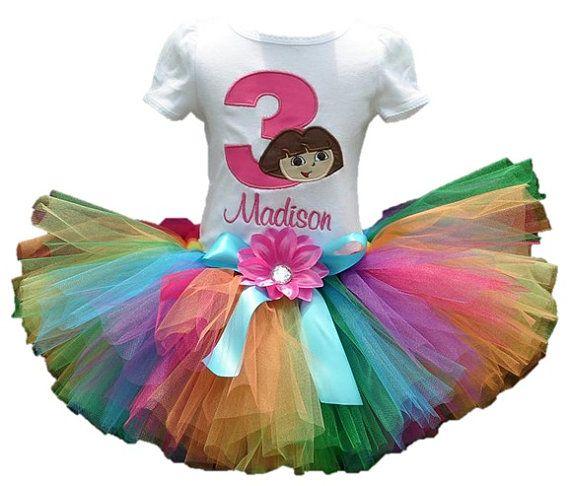 Dora The Explorer Birthday Tutu Outfit 2 Piece set