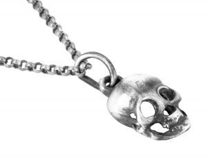 Skull necklace/pendant in sterling silver - $125