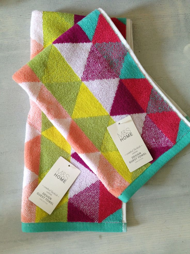 Colourful, Delicious, Graphic Hand Towels on the #bfd #blog @inkinc62