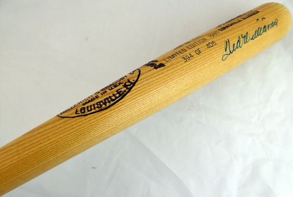 Ted Williams Autographed Louisville Slugger Bat Boston Red Sox JSA #Y62656