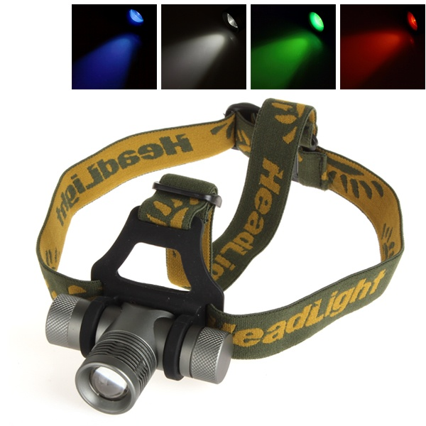 300lm Zoomable Cree Q5 Led Headlamp With Green Red Blue Diffuser Led Headlamp Headlamp Diffuser