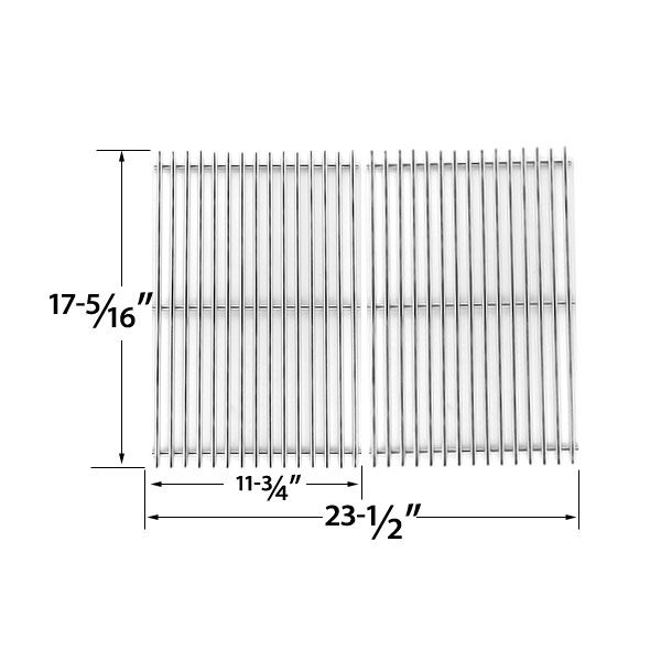 2 PACK HEAVY DUTY STAINLESS STEEL COOKING GRID FOR SURE HEAT, AMANA, SUREFIRE, KENMORE GAS GRILL MODELS Fits Compatible Sure Heat Models : CGR27