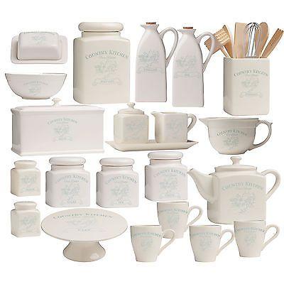 VINTAGE COUNTRY CUCINA Tè Caffè CONTENITORI BISCOTTI PANE Stoccaggio Accessori in Home, Furniture & DIY, Cookware, Dining & Bar, Food & Kitchen Storage | eBay