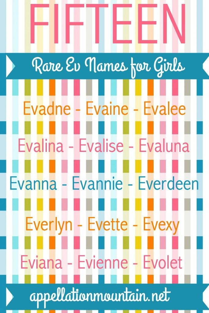 Evelyn Evangeline And Eva Are Popular Ev Baby Names But There Many For GirlsRare