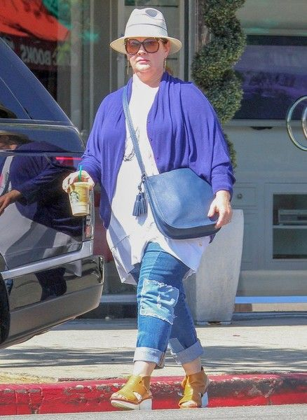 Melissa McCarthy and her family enjoy some time out together in Sherman Oaks.