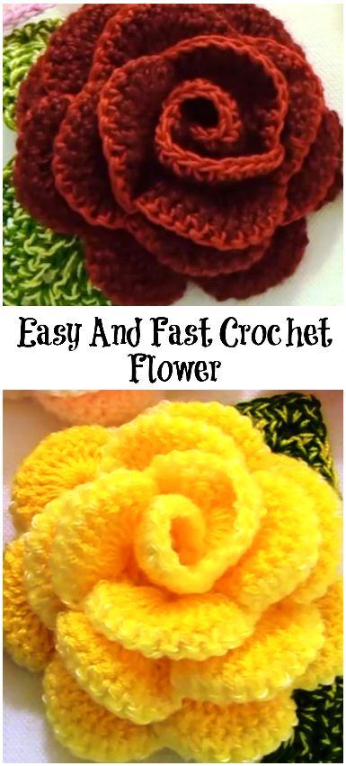 Easy and Fast Crochet Flower