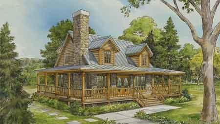 Log Home Designs And Design Your Own Log Home Cottage