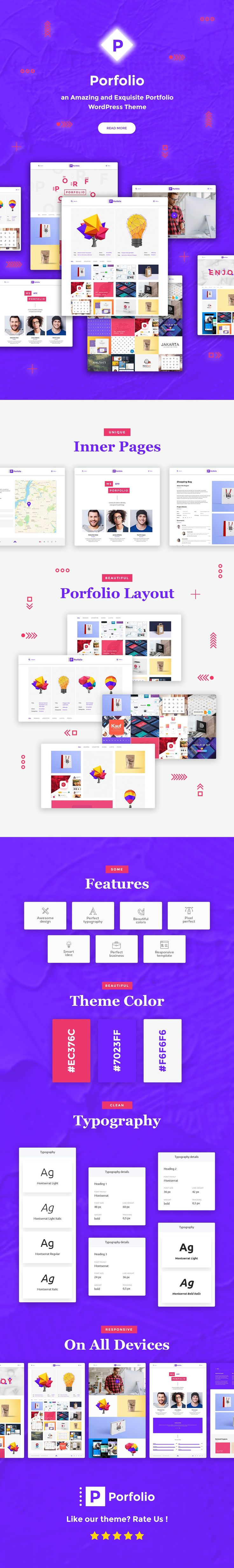 Porfolio - Creative Agency & Personal Portfolio WordPress Theme #minimal #modern #personal portfolio • Download ➝ https://themeforest.net/item/porfolio-creative-agency-personal-portfolio-wordpress-theme/20311160?ref=rabosch