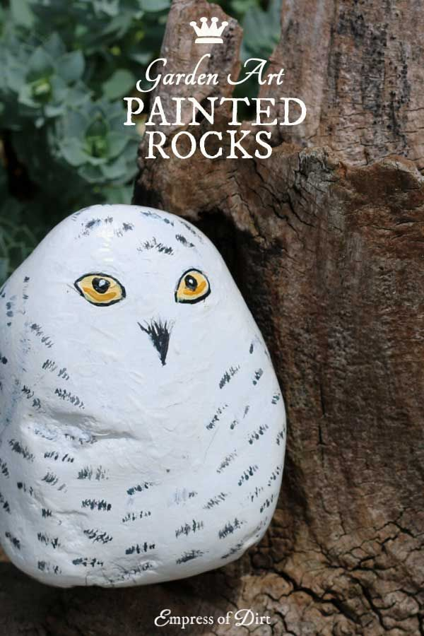 How to hand paint stones empress of dirt blog creative - Painting rocks for garden what kind of paint ...