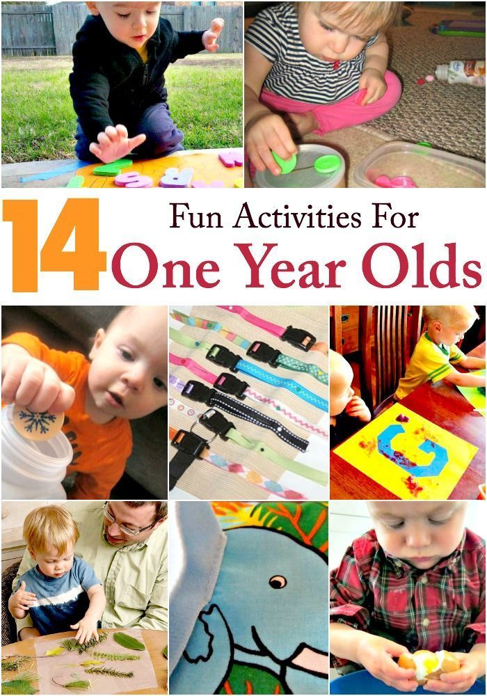 These 14 fun activities for your 1 year old will keep your baby busy all afternoon! Your baby will love these discovery play ideas!