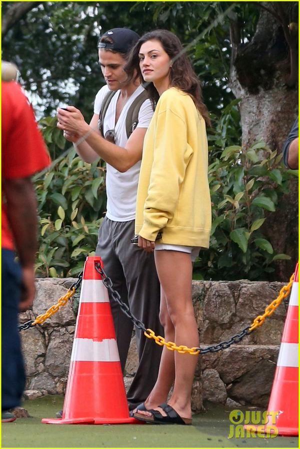 Paul Wesley and Phoebe Tonkin in Brazil