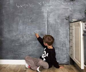 Chalkboard Wall Paint - Transform those dull walls in your home to chalkboards just like you had in school! Applied just like regular paint