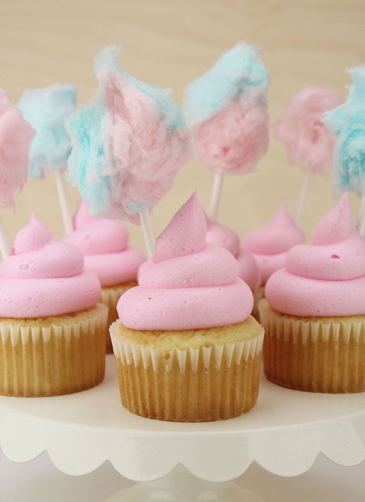 How to Make Pink Cotton Candy Cupcakes on the Layer Cake Shop Blog!   www.layercakeshop.com   #circus #carnival #birthday