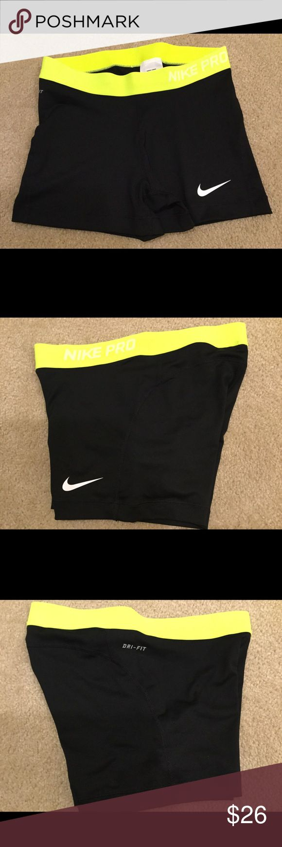 "Women's Nike Pro Compression Shorts NWOT Women's Nike Pro 3"" Compression Shorts Size Medium. Dri-Fit material. 80% Polyester 20% Spandex. Never worn. Nike Shorts"