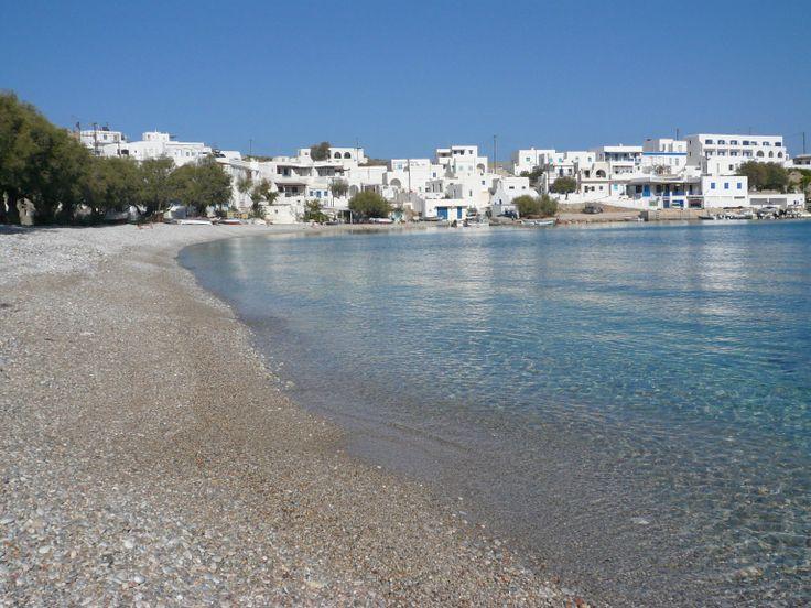 Karavostassi beach, 30m from Vrahos Boutique Hotel.