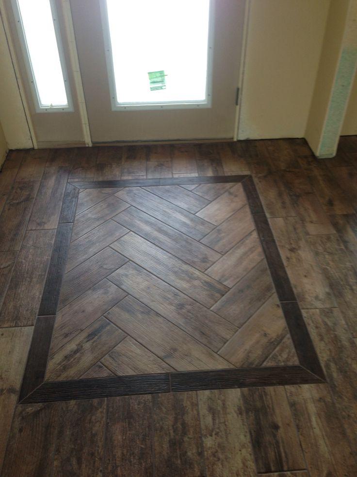 Floor Design: Wood Tile, Herringbone Pattern