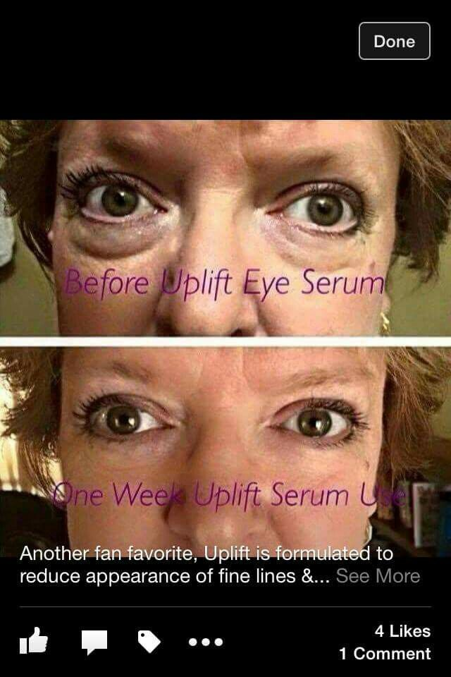 Younique Uplift Eye Serum! What a difference!