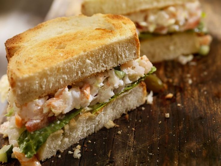Shrimp Salad Sandwiches for Two to Bring Maryland Home