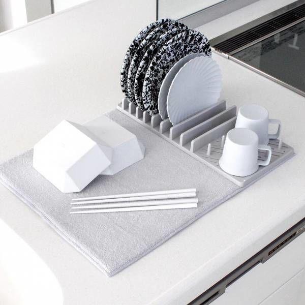 実用性とデザイン性も抜群 ニトリ の 水切り吸水マット2点セット が便利 ウーマンエキサイト キッチン 水切り 食器 水切り ニトリ 食器