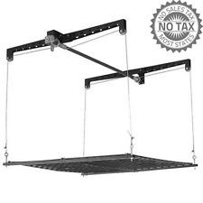 Racor Pro 4x4-Foot Cable Lift Storage Rack Garage Ceiling Heavylift Organize New