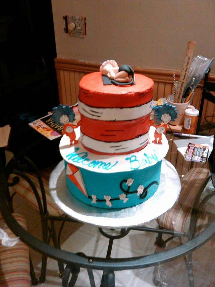 cat in the hat baby shower cake cakes pinterest cats babies and