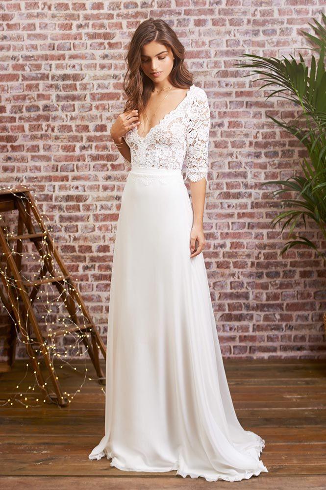 16dadbe4e00 Robe de mariée en dentelle