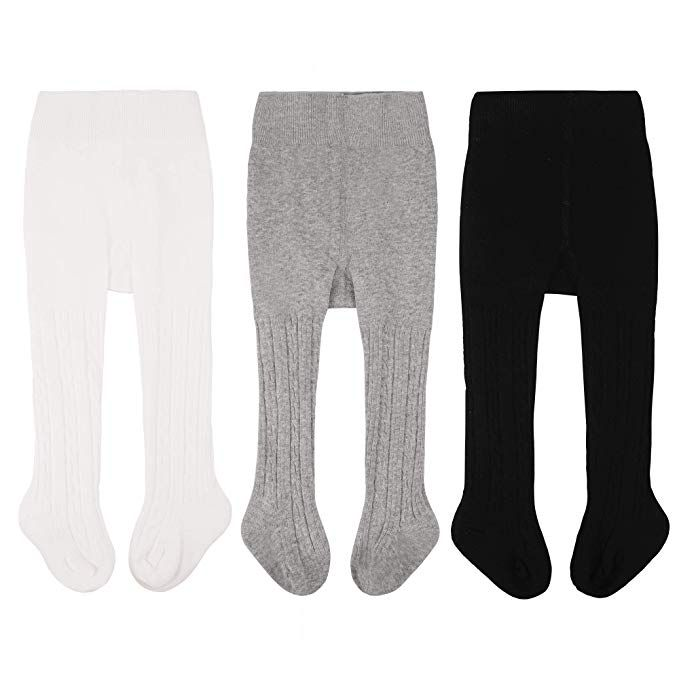 Baby Girls Tights Seamless Knit Cotton Leggings Pants Infant Toddler Girl Stockings