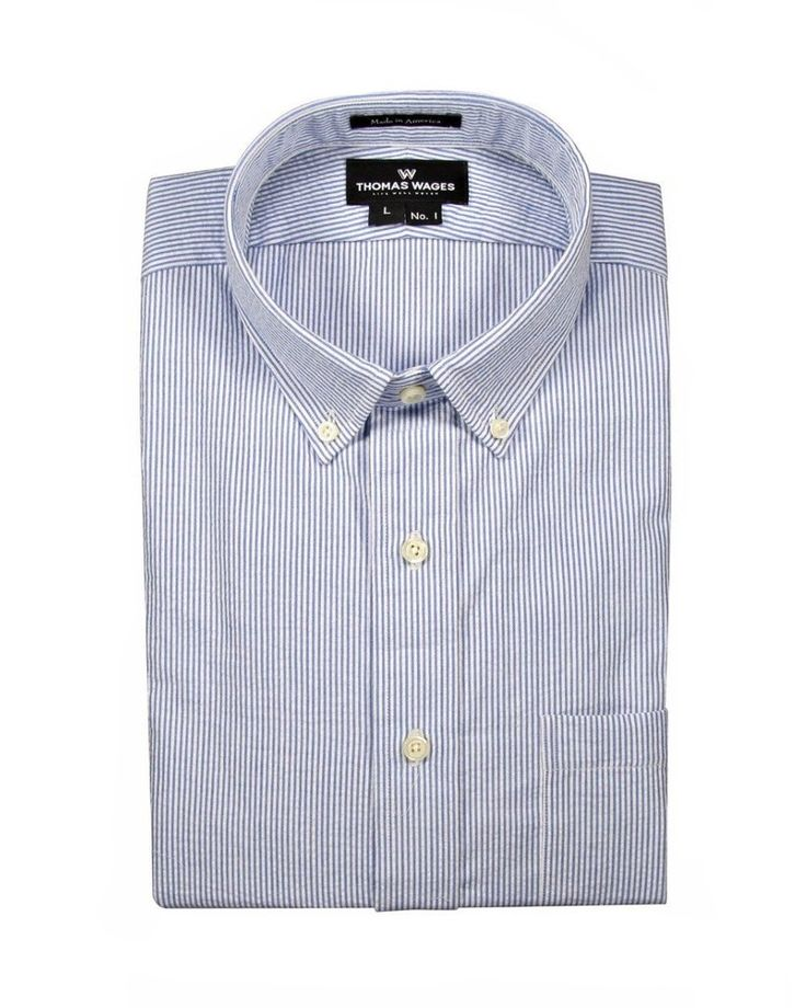 Blue Stripe Seersucker Shirt