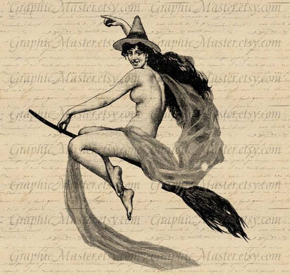 Halloween Pin Up Witch Broom Digital Download Collage Sheet Image Iron On Transfer Prints Cloth Tote Bags Pillows Tea Towels Burlap a179. $1.00, via Etsy.