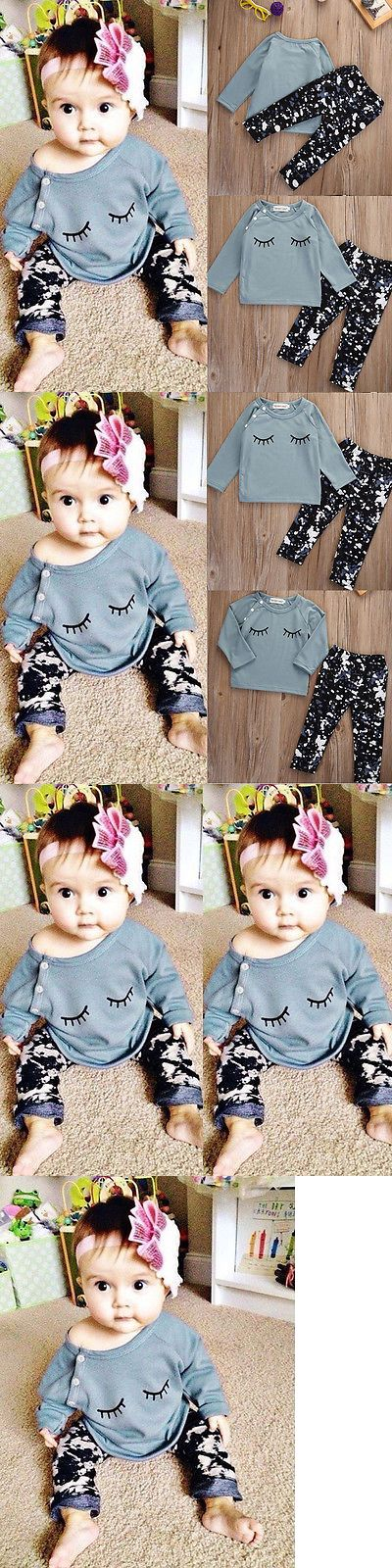 Baby Girls Clothing: Newborn Infinfant Baby Girls Boy Clothes T-Shirt +Leggings Pants Outfit Set Bao BUY IT NOW ONLY: $9.99