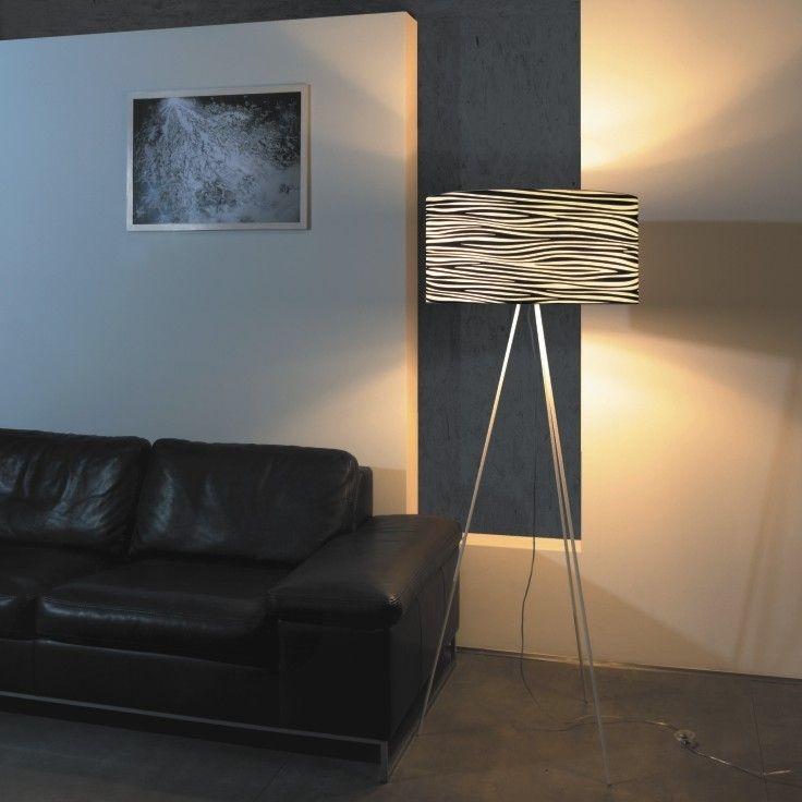 Brava - osvětlení - černý dekor / Floor Lamp