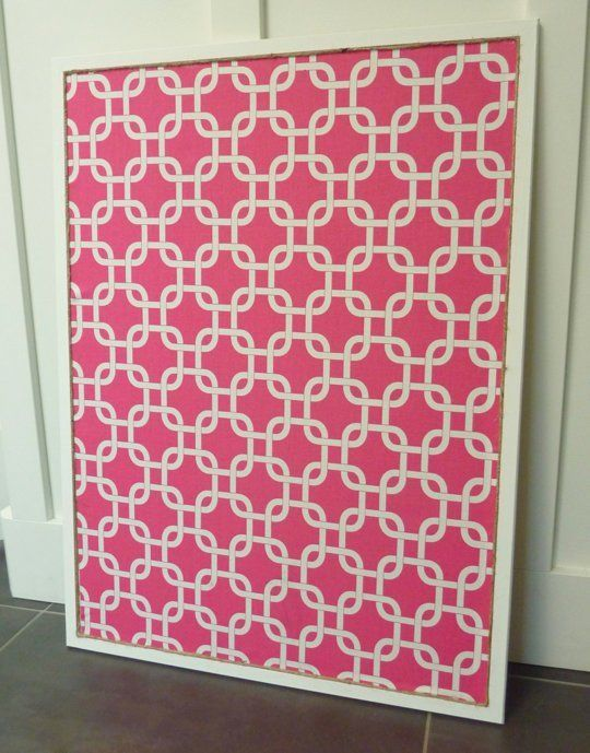 While shopping for a bulletin board to hang above my home office desk, I was shocked to discover how much this home office essential can fetch from some decor retailers. And adorned with something special like an ornate frame? Forget it. Inexpensive cork boards from office stores are much more budget-friendly and they can be customized with paint or fabric for a more luxe appearance...