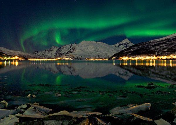 Diosa nórdica del amanecer - Aurora Boreal