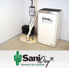 SaniDry™ XP dehumidifier