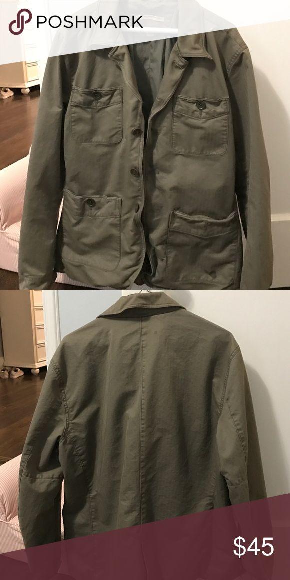John varvatos olive green jacket Olive green cotton jacket is missing button on lower pocket. John Varvatos Jackets & Coats Lightweight & Shirt Jackets