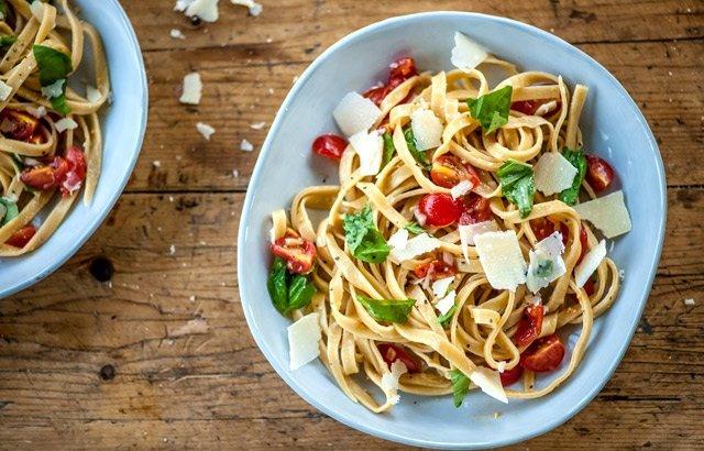 Tagliatelle With Basil And Egg Yolk Recipe — Dishmaps