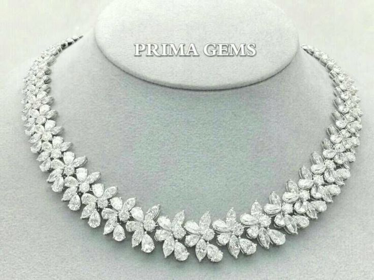 Necklace Diamonds #PrimaGems #necklace #diamonds #beautiful #gorgeous #findjewelry #jewelry #emporium #paragon #thailand