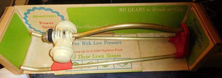 VINTAGE SHERMAN 2300 SPRAY Rotating water YARD SPRINKLER IRRIGATION w BOX,rare