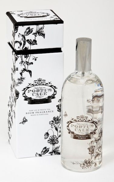 Portus Cale Floral Toile Room Spray - Hand blown glass Made in Portugal  Distributed in Australia by Supertex