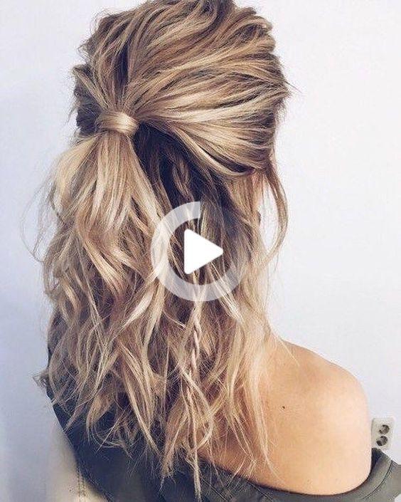 52中程度の長さの髪のdiyのための最も簡単で最も美しい髪型 52中程度の長さの髪のdiyのための最も簡単で最も美しい髪型 Hairstylemittellang Hair Styles Long Hair Styles Medium Length Hair Styles