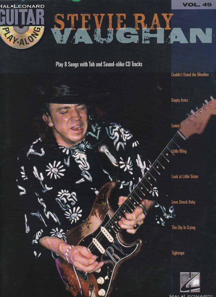 Stevie Ray Vaughan SRV Guitar Play-Along Vol 49 Tab Sheet Music Song Book CD NEW